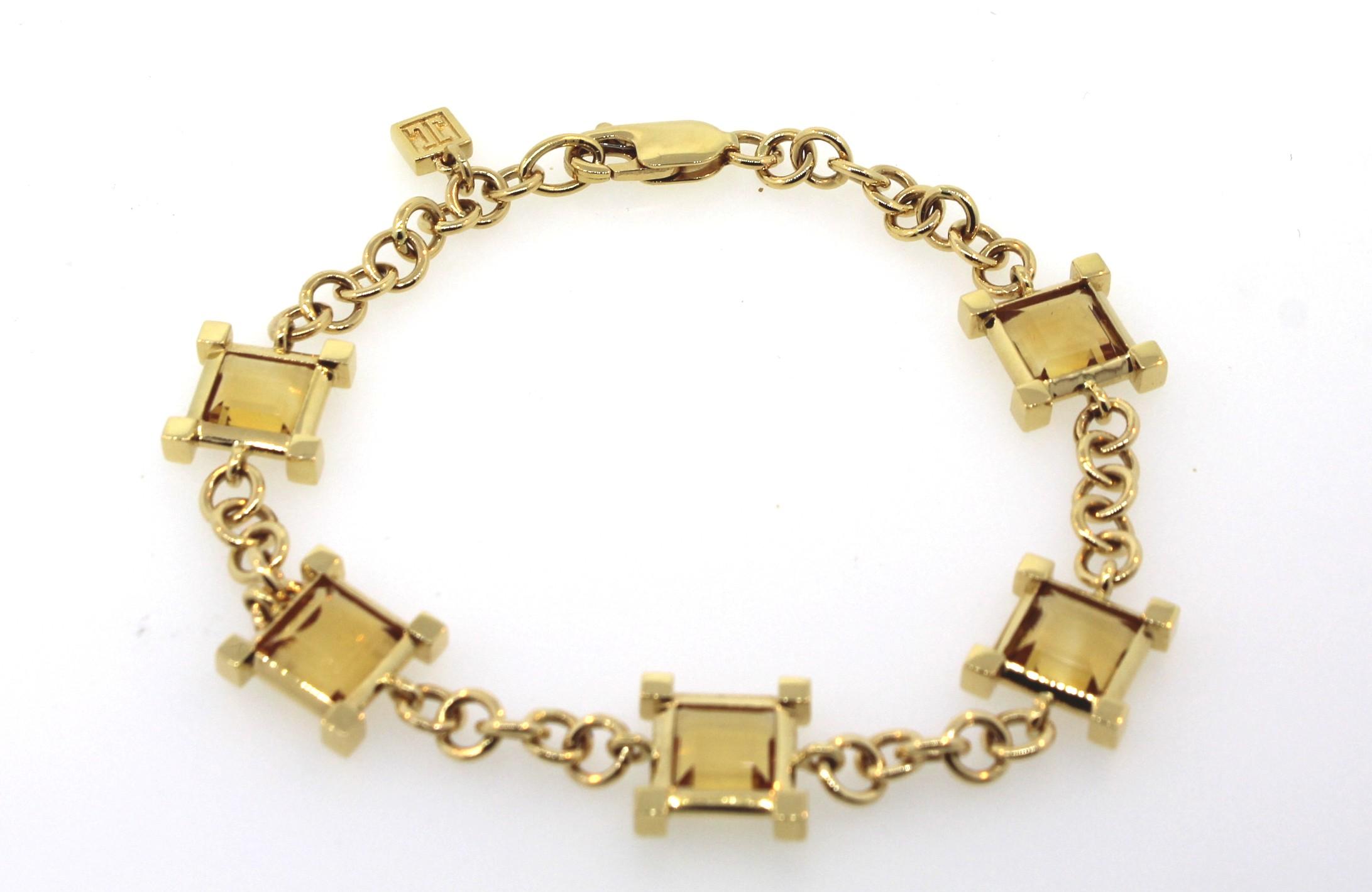 schickes jette joop armband citrin 750er gelbgold ebay. Black Bedroom Furniture Sets. Home Design Ideas